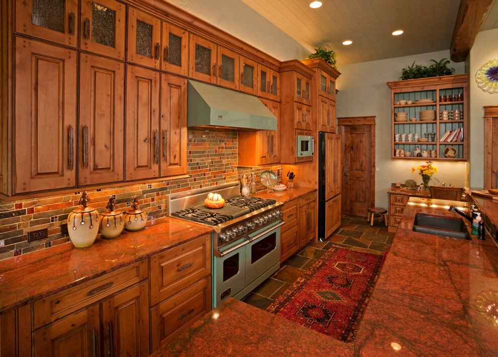 rustic kitchen cabinets - Cherry Kitchen Cabinets