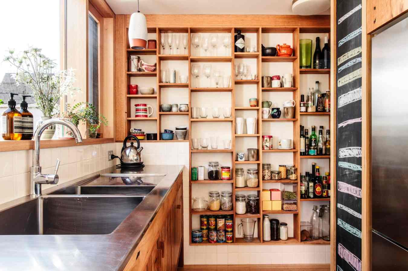 recessed pantry wall design