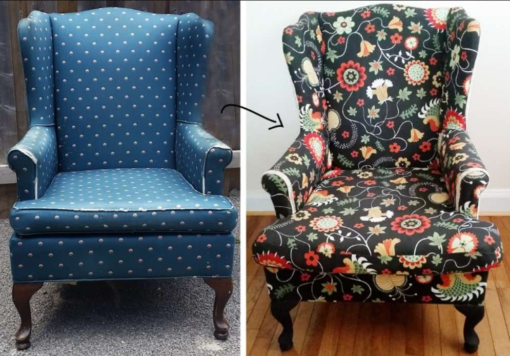 DIY reupholster chair