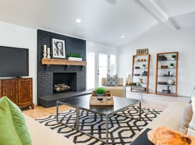 Home Decor Tips - Living Room With Fireplace