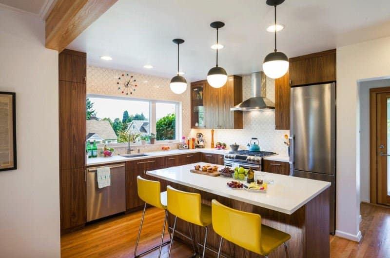 mid century modern kitchen cabinet doors