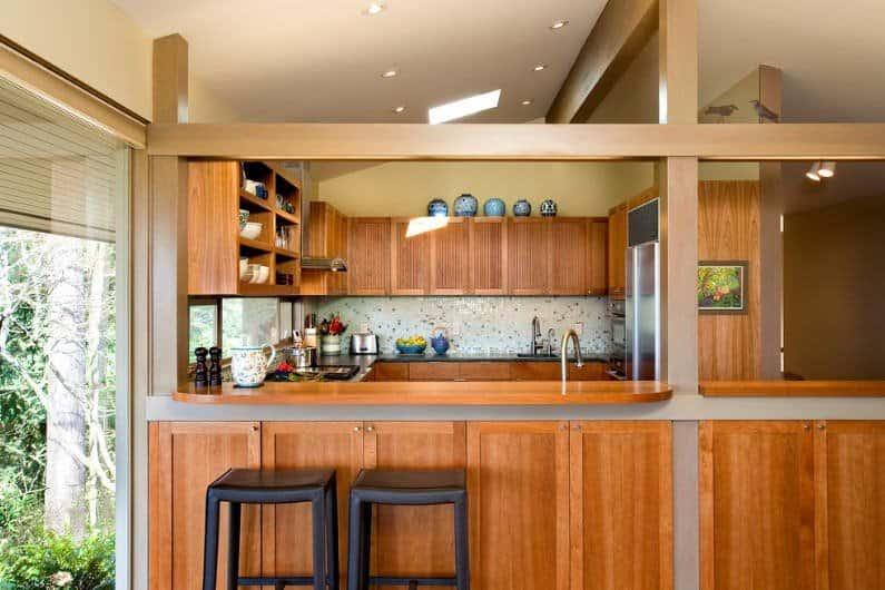 mid century modern kitchen countertops