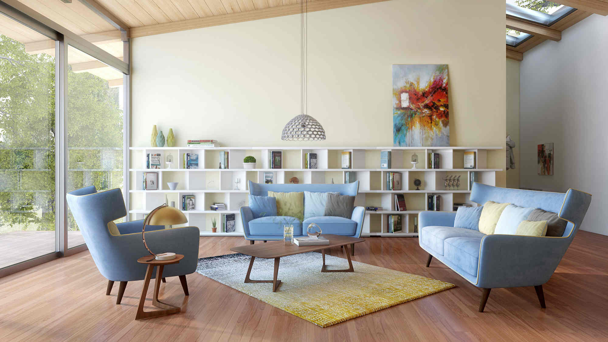 17 Beautiful Mid Century Modern Living Room Ideas You'll Love