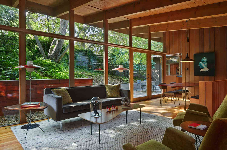 mid century modern living room tables