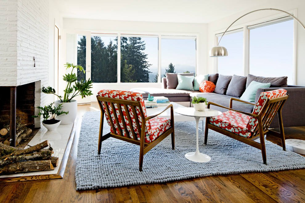 mid century modern living rooms images
