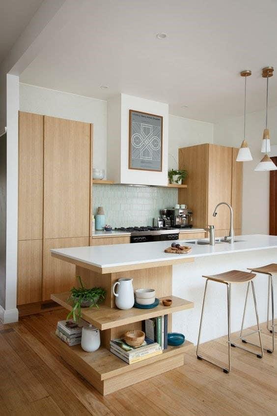 mid century modern kitchen backsplash