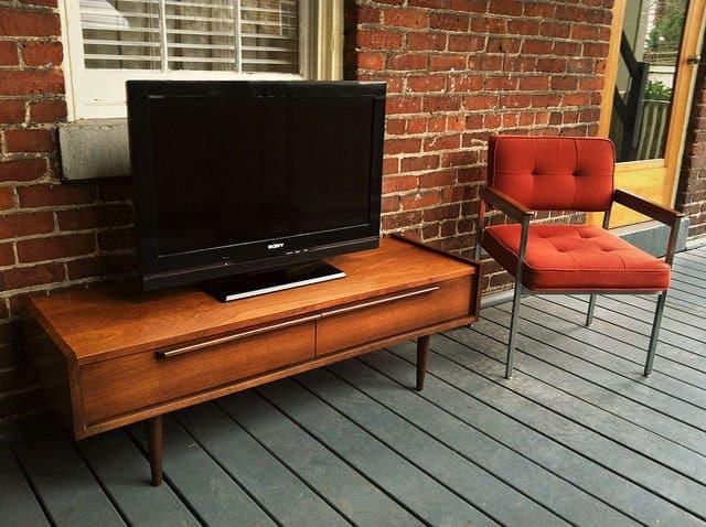 Mid Century Modern Tv Stand - Walnut Tv Stand With Mid Century Style