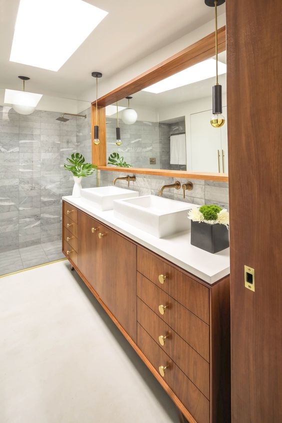 Mid Century Modern Bathroom - Picture Of Mid Century Modern Bathroom Design 6