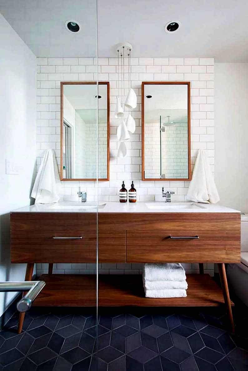 18 Refreshing Rustic Bathroom Design Ideas - Picture Of Mid Century Modern Bathroom Design 7