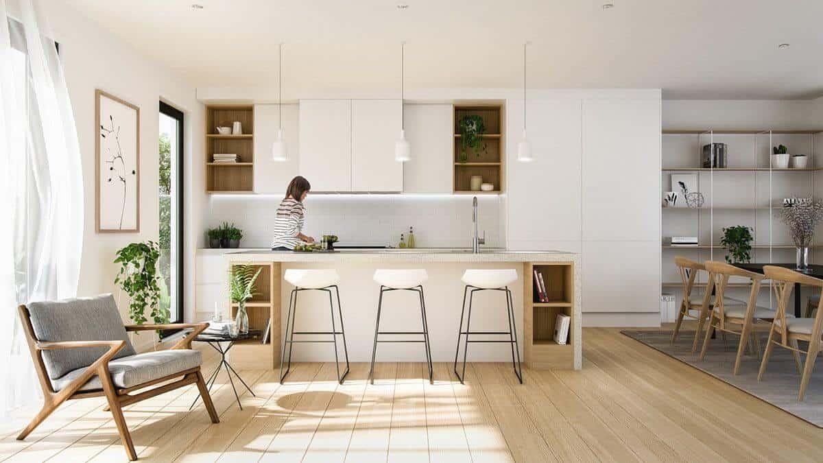 Scandinavian Kitchen Island Design 12