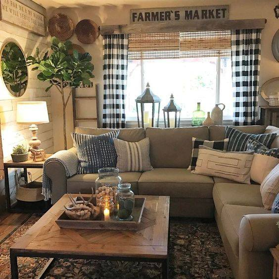 clasical furniture style living room accent wall ideas | 23 Farmhouse Living Room Ideas to Try in 2019 - Don Pedro