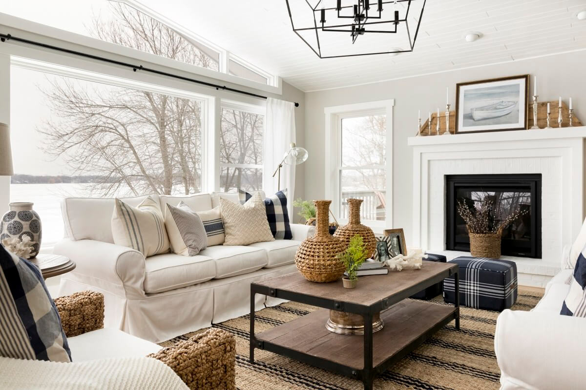 All White Farmhouse Living Room Idea. 23 Farmhouse Living Room Ideas to Try in 2019   Don Pedro