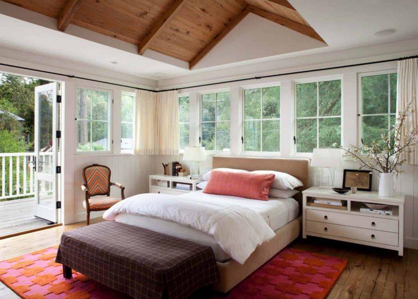 21 Enchanting Farmhouse Bedroom Design Ideas - Farmhouse Bedroom In Open Style