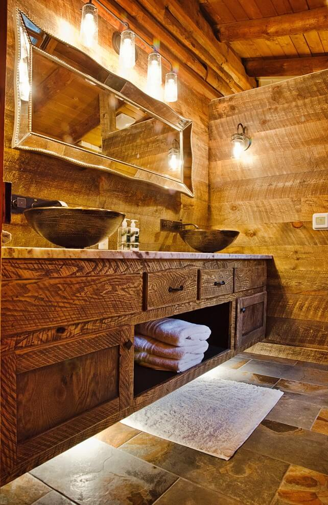 18 Refreshing Rustic Bathroom Design Ideas - Rustic Bathroom Designs 5
