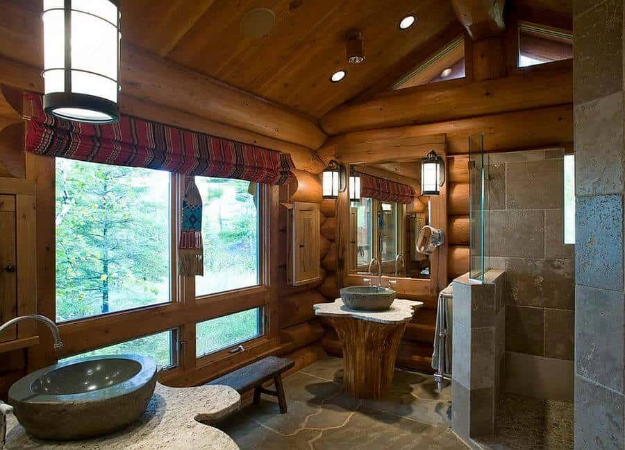 18 Refreshing Rustic Bathroom Design Ideas - Rustic Bathroom Designs 9