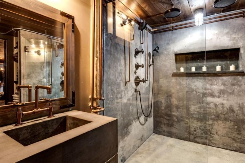 industrial bathroom design