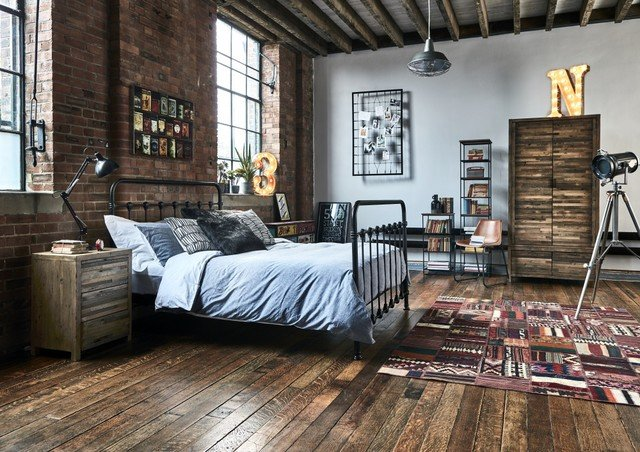 industrial loft bedroom ideas