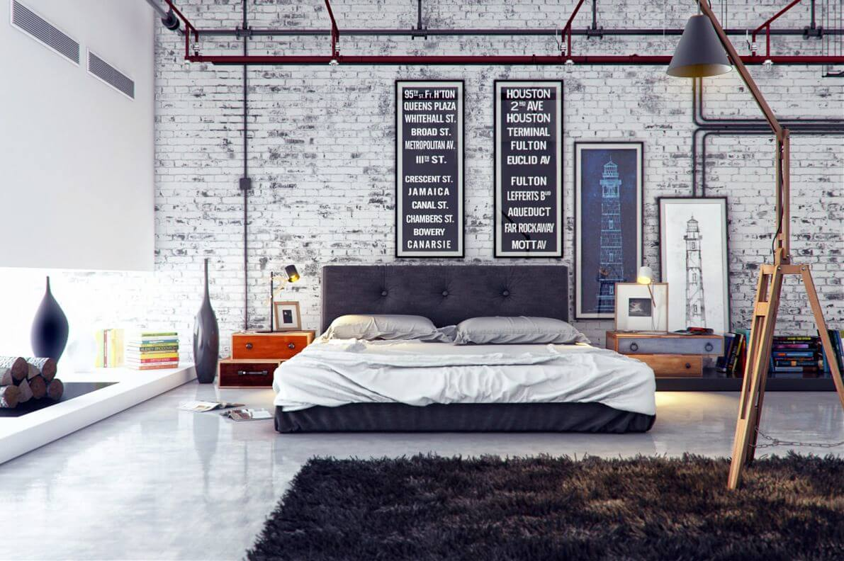 rustic industrial bedroom ideas