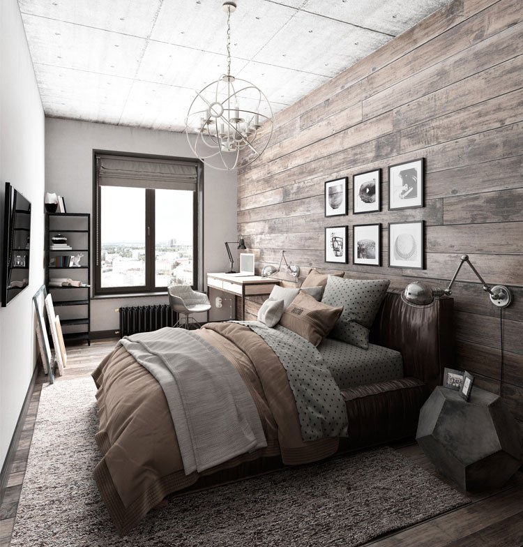 industrial bedroom layout