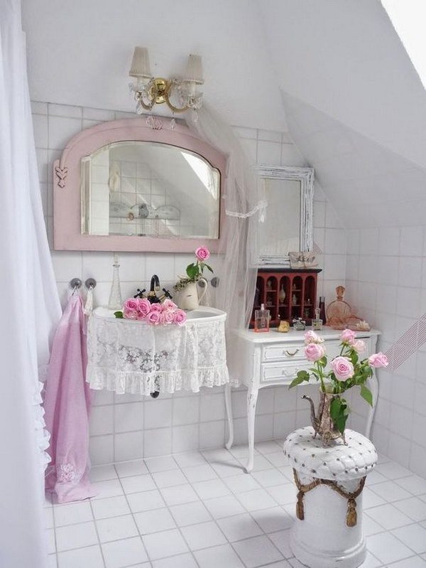 shabby chic bathroom shower curtains
