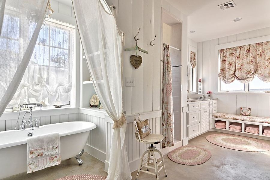 shabby chic bathroom tiles