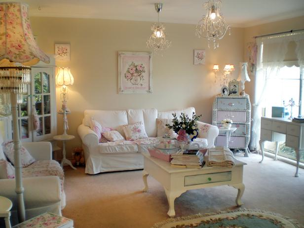 Shabby Chic Living Room - Shabby Chic Style Living Room Vintage Ideas 13