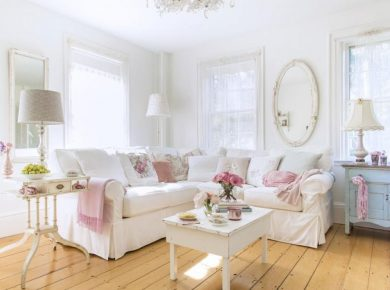 Shabby Chic Living Room - Shabby Chic Style Living Room Vintage Ideas 2