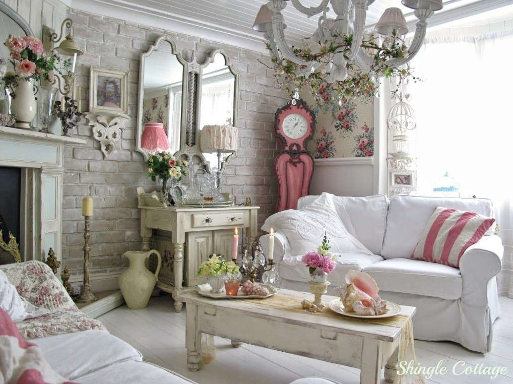 Shabby Chic Living Room - Shabby Chic Style Living Room Vintage Ideas 22
