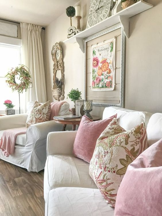 Shabby Chic Living Room - Shabby Chic Style Living Room Vintage Ideas 5