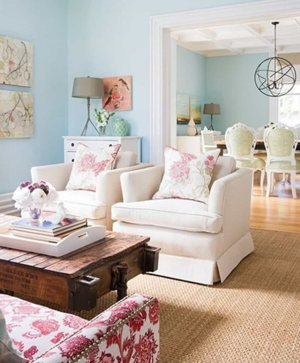 Shabby Chic Living Room - Shabby Chic Style Living Room Vintage Ideas 7