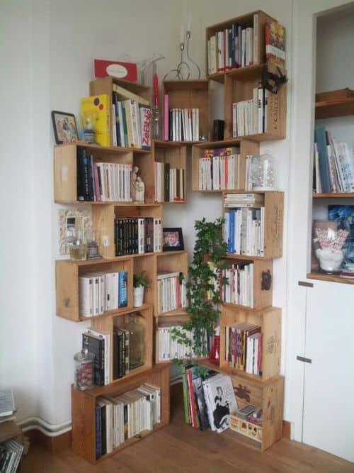 rustic corner shelf ideas