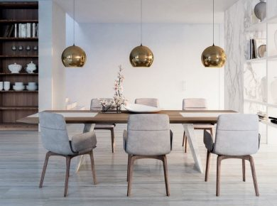 Top 5 Kitchen Trends For 2021 (Add Instant Glamour!) - Velvet Kitchen Furniture Dining Table