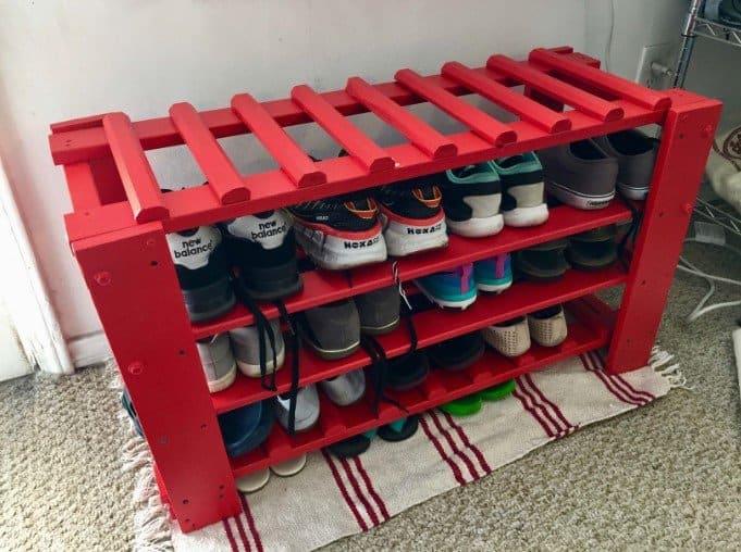 DIY Shoe Rack Idea