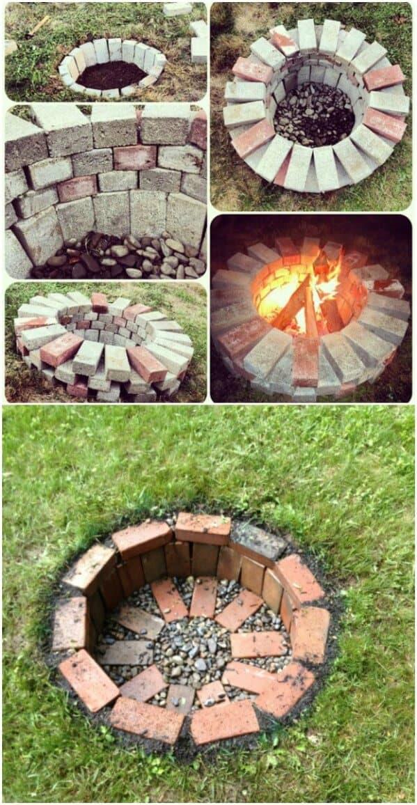 Backyard fire pit design