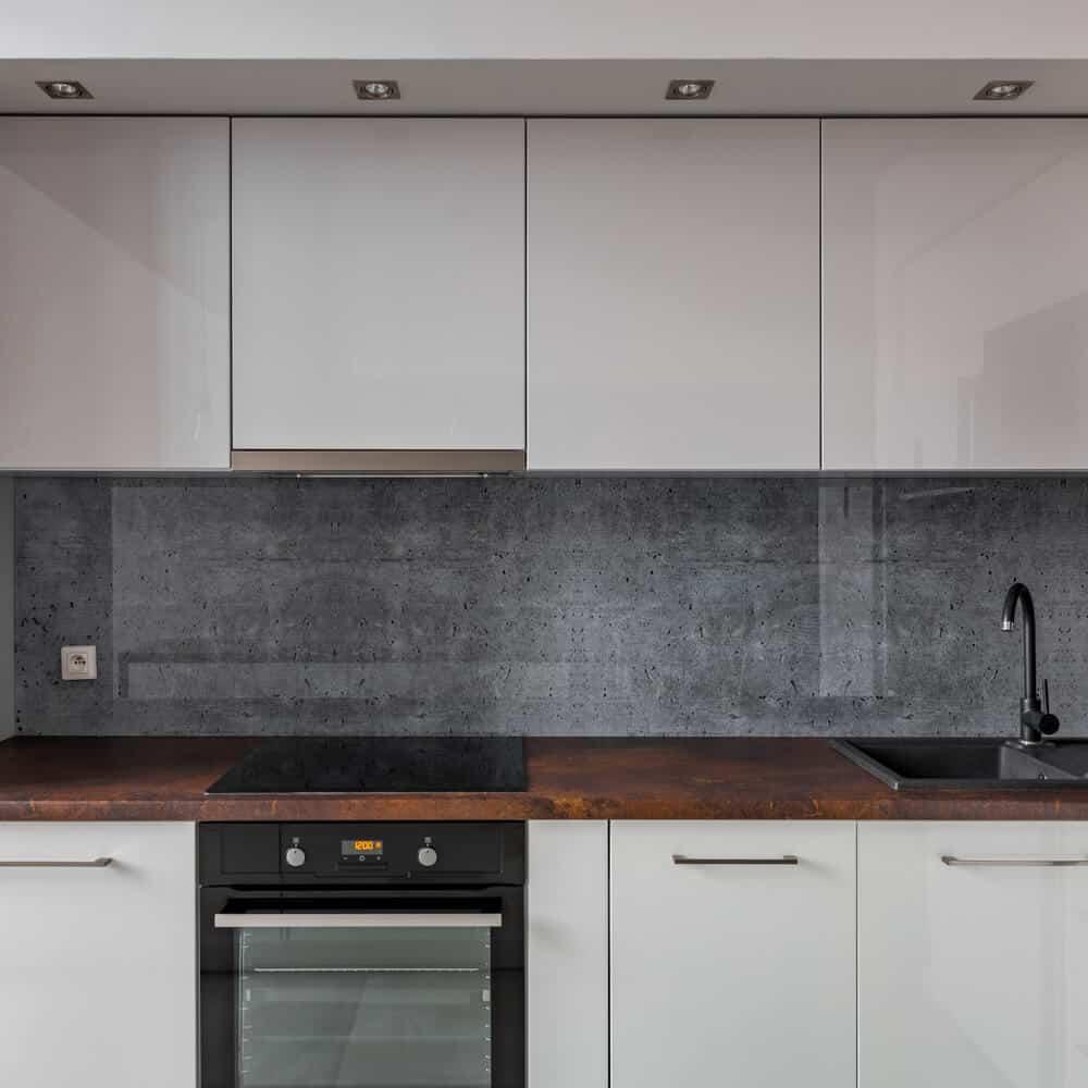 kitchen backsplash made out of concrete