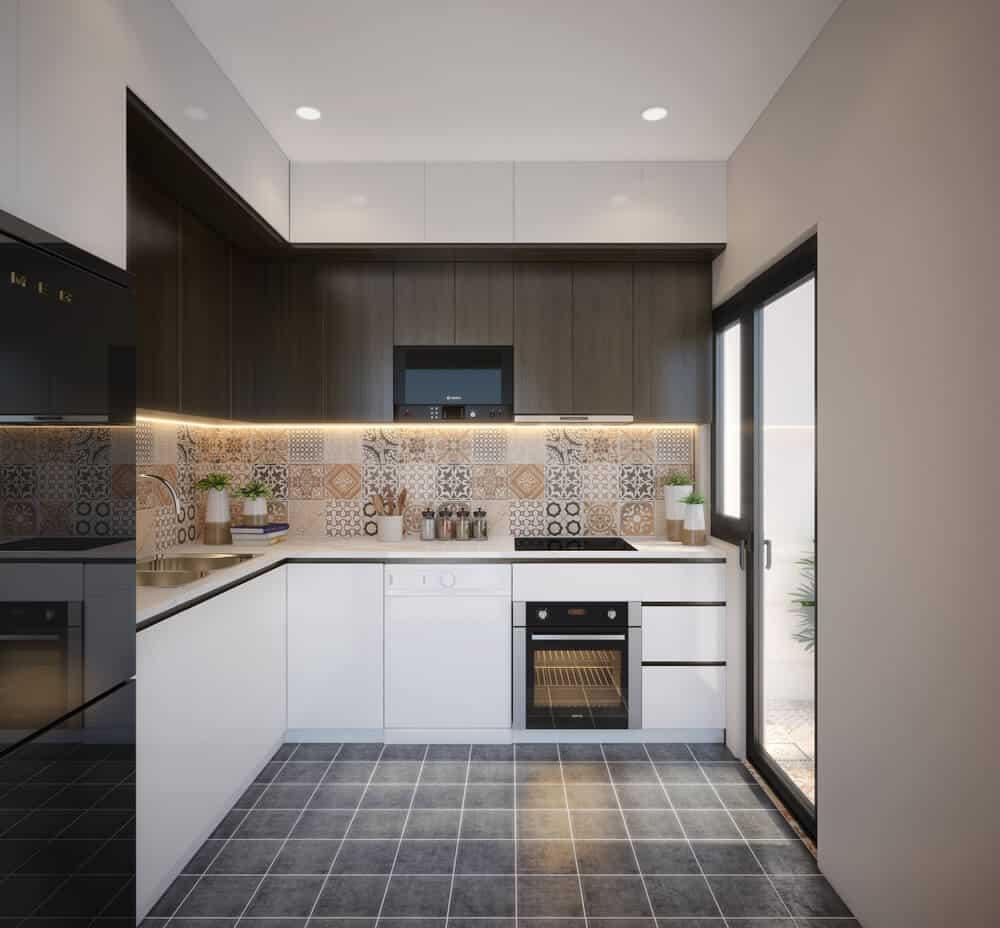Spanish Style Tile Backsplash