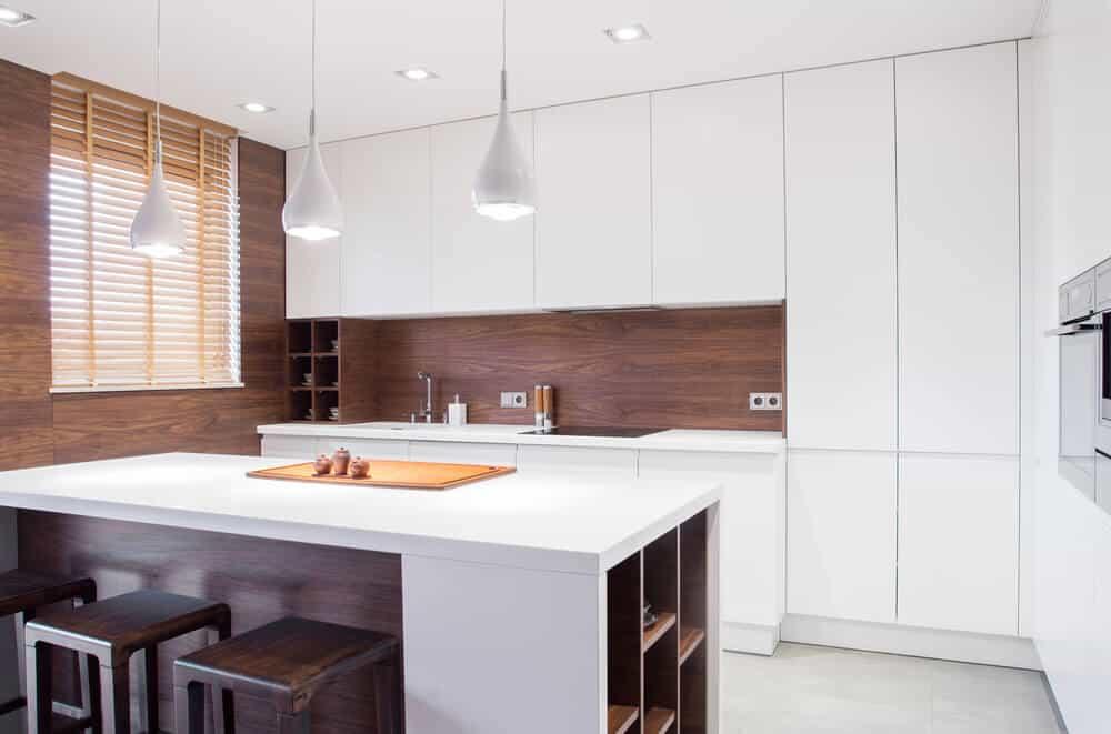 Dark Wood Kitchen Backsplash