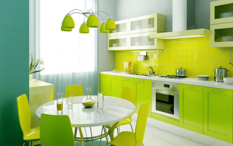26 Gorgeous Green Kitchen Cabinet Ideas To Try In 2021 - Kitchen Design And Layout Ideas With Green Kitchen Cabinet 12