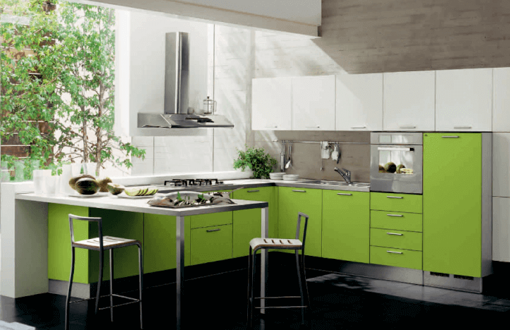 26 Gorgeous Green Kitchen Cabinet Ideas To Try In 2021 - Kitchen Design And Layout Ideas With Green Kitchen Cabinet 15
