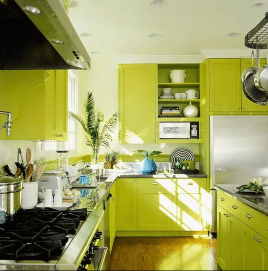 26 Gorgeous Green Kitchen Cabinet Ideas To Try In 2021 - Kitchen Design And Layout Ideas With Green Kitchen Cabinet 16