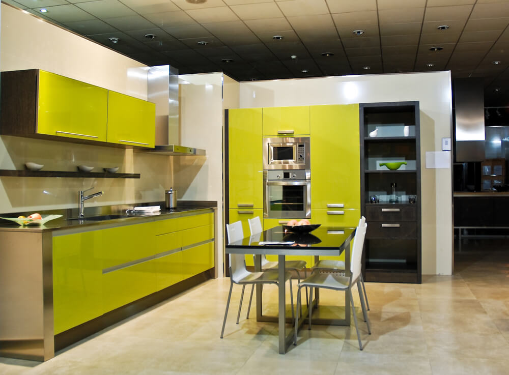 26 Gorgeous Green Kitchen Cabinet Ideas To Try In 2021 - Kitchen Design And Layout Ideas With Green Kitchen Cabinet 2