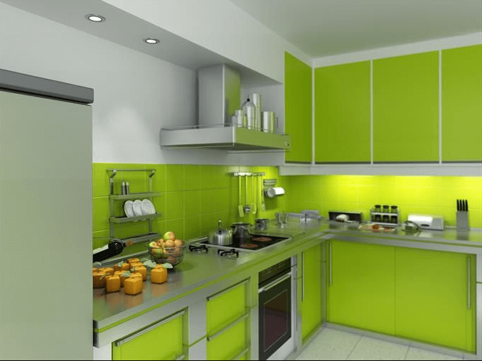26 Gorgeous Green Kitchen Cabinet Ideas To Try In 2021 - Kitchen Design And Layout Ideas With Green Kitchen Cabinet 5