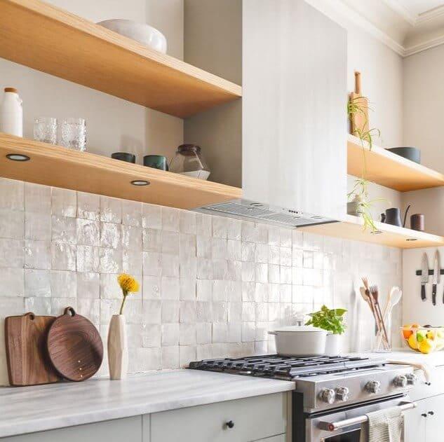 Square Stone Kitchen Backsplash