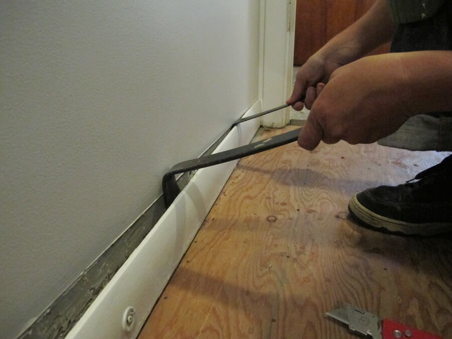 getting rid of old baseboard