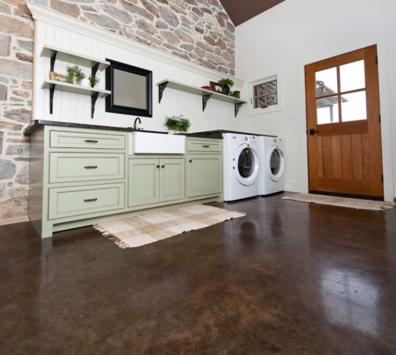 Concrete Flooring for Laundry Room