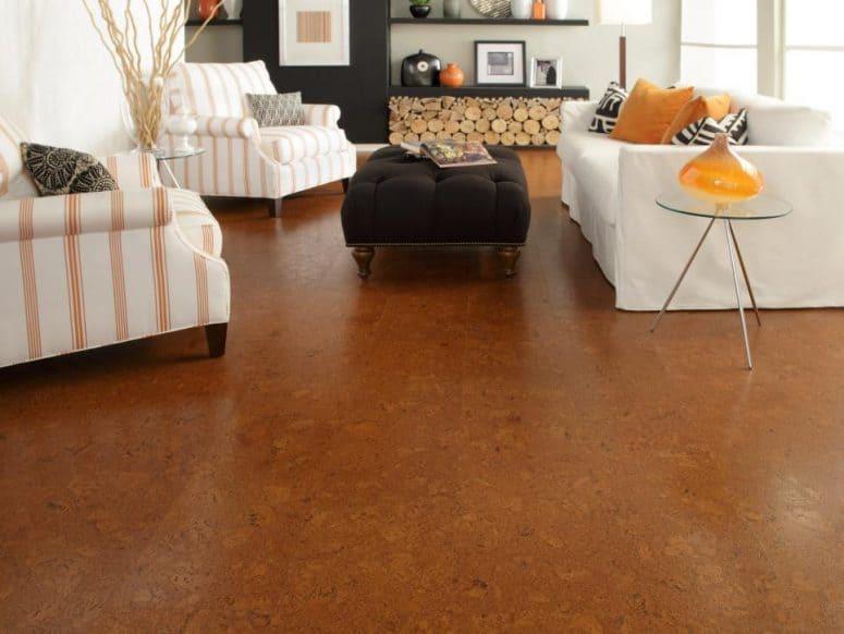 Cork Flooring Installation in Kitchen