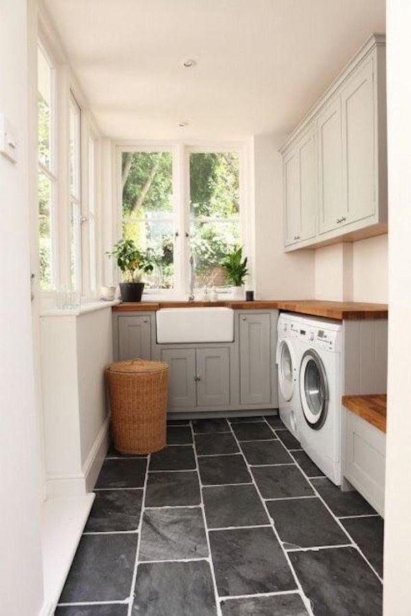 Natural Stone Flooring for Laundry Room