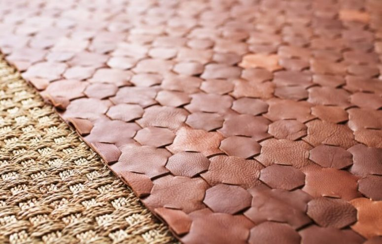 Types of rug - leather