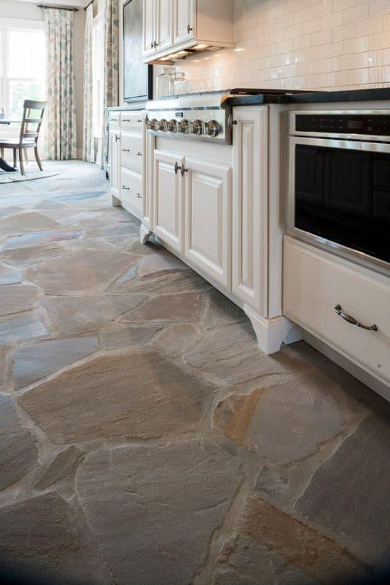 Stone Flooring for Kitchen