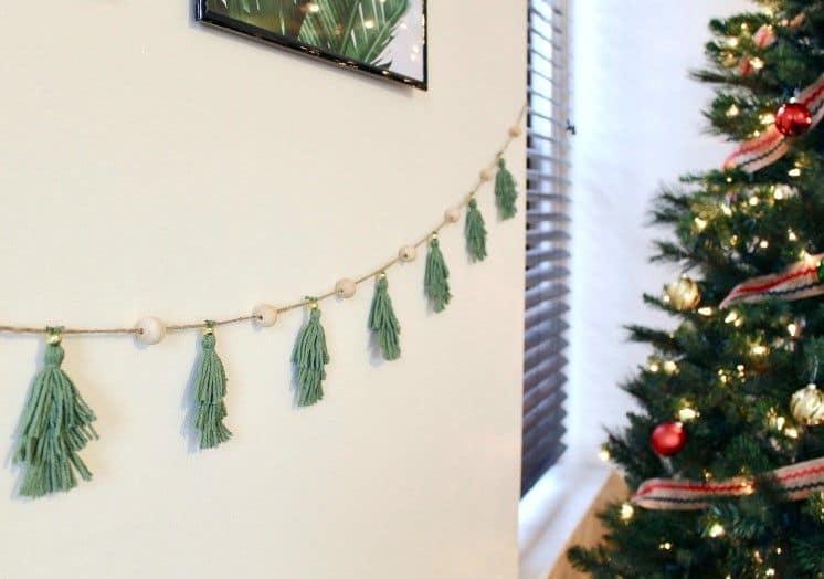 DIY hanging garland